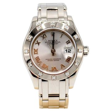 Rolex Lady Datejust Pearlmaster Silver White gold Watches