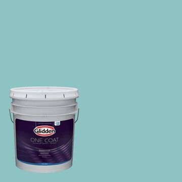 Glidden One Coat Interior Paint and Primer, Alley Cat/Purple, 5 gallons, Semi-Gloss