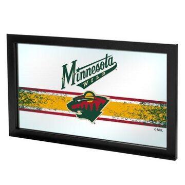 Trademark Gameroom NHL Framed Logo Mirror - Minnesota Wild