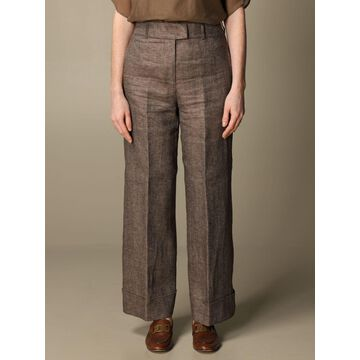 Wide Peserico linen trousers