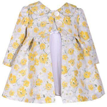 Toddler Girl Bonnie Jean Floral Jacquard Dress & Coat Set
