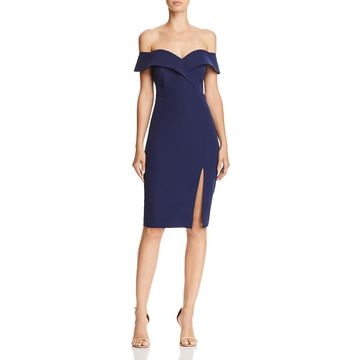 Bardot Womens Bella Off-The-Shoulder Party Cocktail Dress