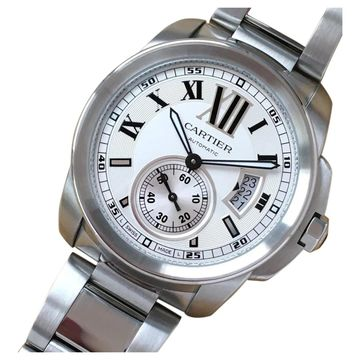 Cartier Calibre White Steel Watches