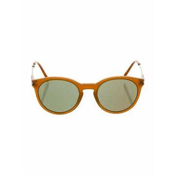 Round Tinted Sunglasses Orange