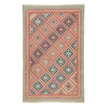Jaipur Living Ottoman Handmade Geometric Red/Blue Area Rug, 4'x6'