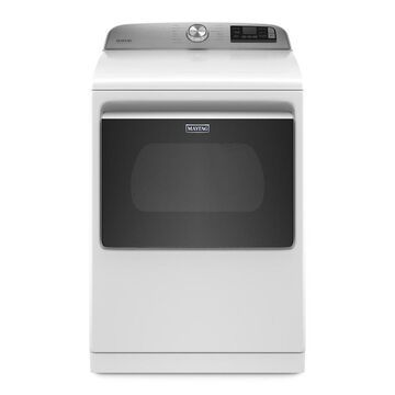 Maytag 7.4-cu ft Smart Capable Vented Electric Dryer with Extra Power Button - White