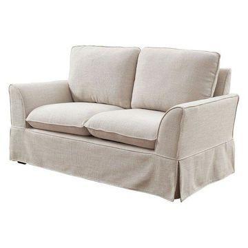 Furniture of America Osilla Loveseat in Beige