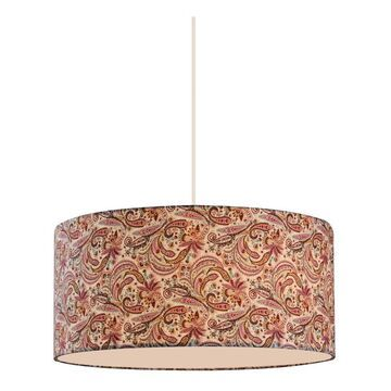 Zlite 204-20 Astra 3 Light Pendant in White with Pink & Burgundy Shade