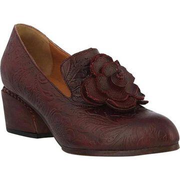 L'Artiste by Spring Step Women's Noora Heeled Loafer Bordeaux Leather