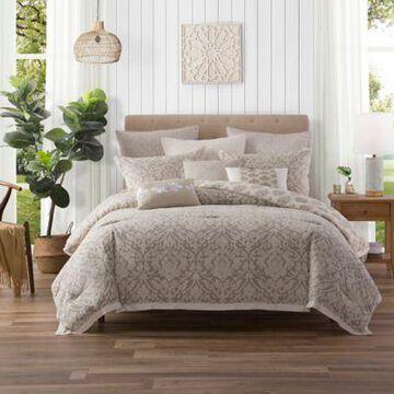 Ellen Tracy Chandler Full Comforter Set in Beige