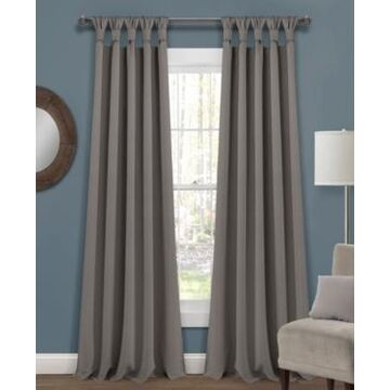 """Lush Decor Knotted Tab Top 52"""" x 95"""" Blackout Curtain Set"""