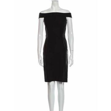 Off-The-Shoulder Knee-Length Dress Black