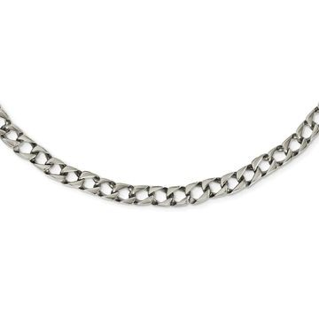 Chisel Stainless Steel Polished Square Link 24-inch Necklace (White - 24 Inch)