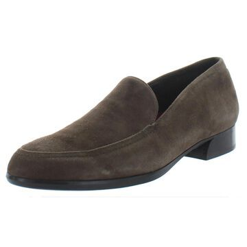 Munro Womens Harrison Loafers Almond Toe Slip On - Greige Suede