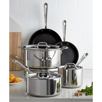 Nonstick Stainless Steel 10-Piece Cookware Set