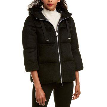 Herno Womens Short Wool-Blend Down Jacket