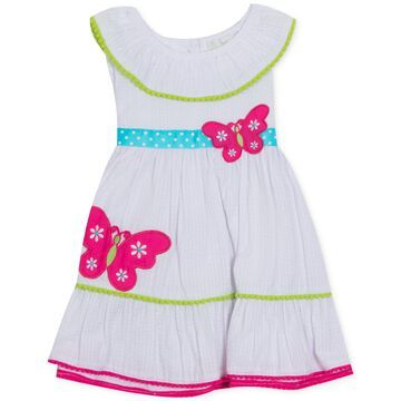 Baby Girls Butterfly Seersucker Dress