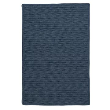 Colonial Mills Simply Home Solid Indoor Outdoor Rug, Blue, 2X11 Ft