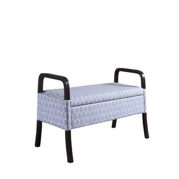ORE International Modern Blue Storage Bench Polyester