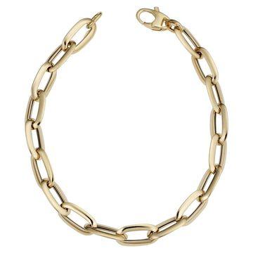 Fremada Italian 14k Yellow Gold Polished Oval Link Bracelet (7mm, 8 inch)