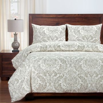 Siscovers Parlour Damask Linen Duvet and Shams Set