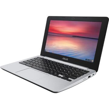 ASUS C200MA-EDU Chromebook Intel Laptop 16GB SSD 2GB RAM Chrome OS (Black - 2 GB - Up to 49 GB)