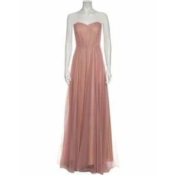 Strapless Long Dress Pink