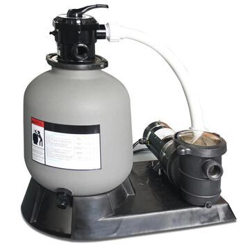 Swimline HydroTools 71915 19 -in Swimming Pool Sand Filter and Pump System   49961