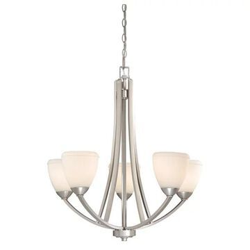 Vaxcel Lighting Helsinki Transitional 5-Light Chandelier X-NB500UHC-SH