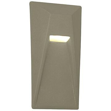 Justice Design Group Ambiance Vertice Outdoor LED Wall Sconce - Color: White - CER-5680W-VAN