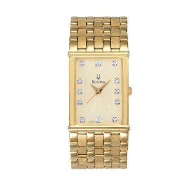 Bulova Men's Diamond Accented Gold-Tone Watch
