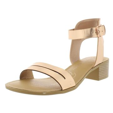 American Rag Womens Alecta Faux Leather Stacked Heels