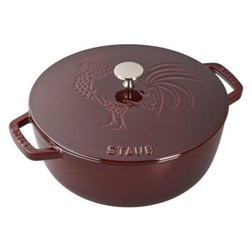 Staub Cast Iron 3.75-qt Essential French Oven Rooster, Grenadine