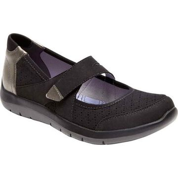 Aravon Women's Wembly Mary Jane Black Textile