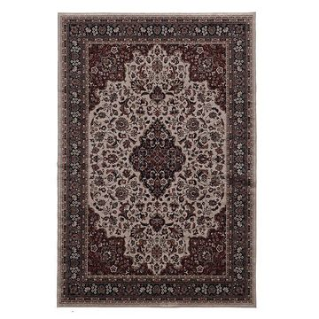 Linon Emerald Medallion Rug, Red, 5X7 Ft