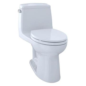 Toto UltraMax 1-Piece Elongated 1.28 GPF Toilet, Cotton White