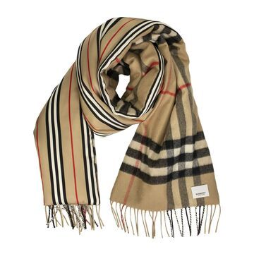 Burberry Check And Icon Stripe Scarf