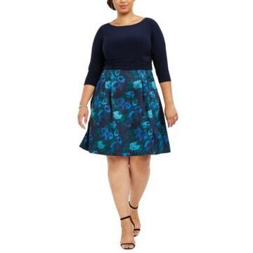Jessica Howard Plus Size Fit & Flare Dress