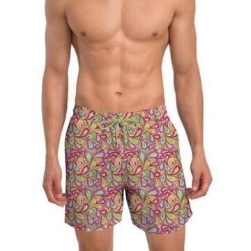 """Nick Graham Men's Modern Fit Quick Dry 6"""" Swim Trunks"""