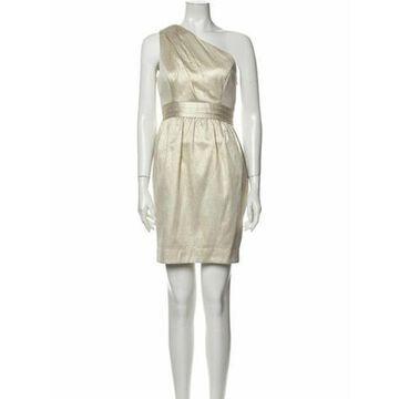 One-Shoulder Mini Dress Gold