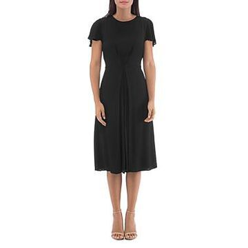B Collection by Bobeau Carmen Inverted-Pleat Dress