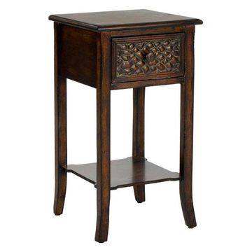 Safavieh Ernest End Table, Dark Brown