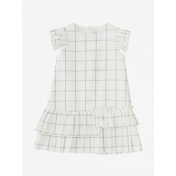 Il Gufo Checked Dress With Pleated Flounces
