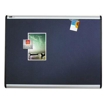 Quartet Prestige Plus Magnetic Fabric Bulletin Board 72 x 48 Fiberboard/Plastic