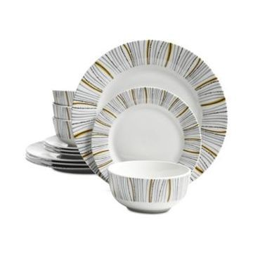 Gibson Classic 12-Pc. Dinnerware Set, Service for 4