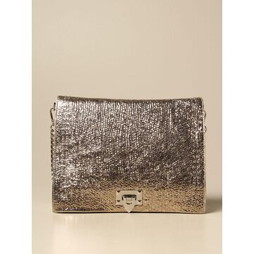 Zaira L Marc Ellis Bag In Laminated Leather With Studs