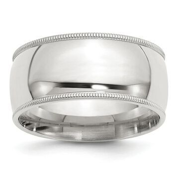 Sterling Silver 10mm Milgrain Comfort Fit Band by Versil (5.5)