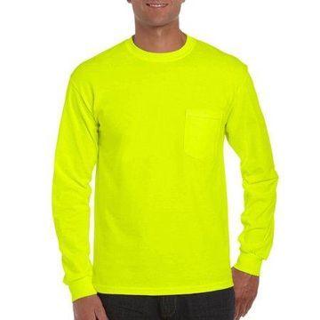 Gildan Mens Ultra Cotton Classic Long Sleeve Pocket T-Shirt