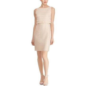 American Living Womens Lace Mini Cocktail Dress
