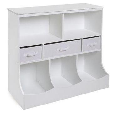 Badger Basket Combo Bin Storage Unit with 3 Baskets in White